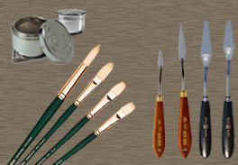 Brushes & Painting Knifes